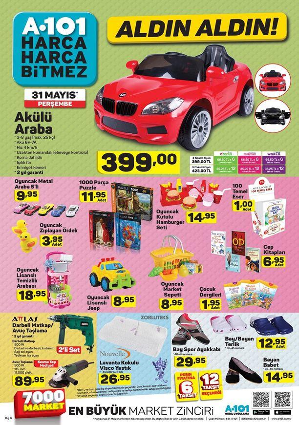 A101 Market Akülü Araba 31 Mayıs 2018 Kampanyası