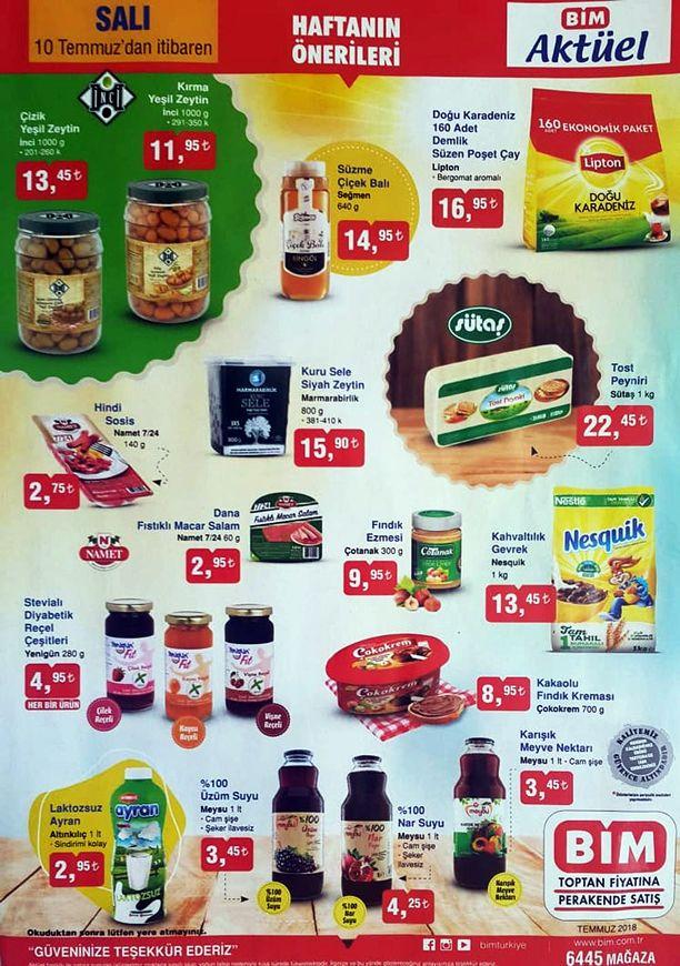 BİM 10 Temmuz 2018 Fırsat Ürünleri Kataloğu