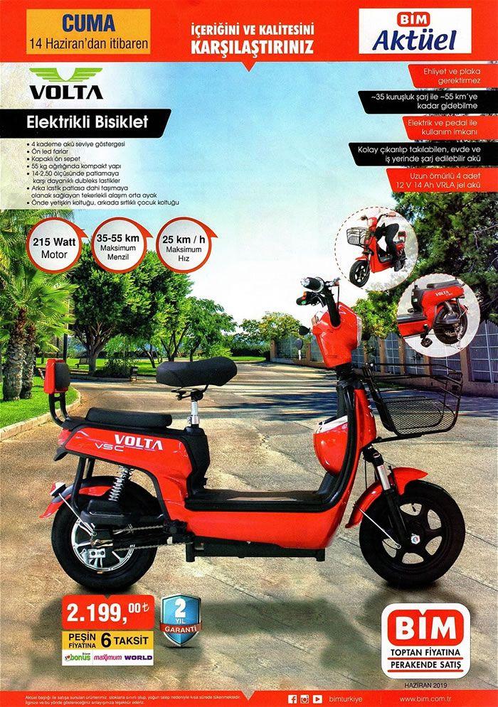 BİM 14 Haziran 2019 Aktüel Kataloğu - Volta Elektrikli Bisiklet
