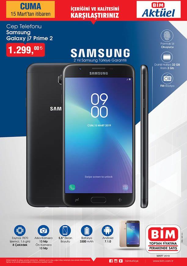 BİM 15.03.2019 Kataloğu - Samsung Galaxy J7 Prime 2 Cep Telefonu