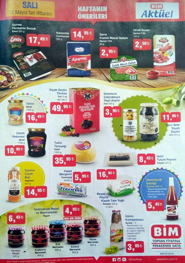 BİM 15 Mayıs 2018 Fırsat Ürünleri Kataloğu - Kahvaltılık