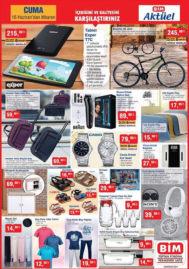 BİM 16 Haziran Exper Tablet ve 26 Jant Bisiklet