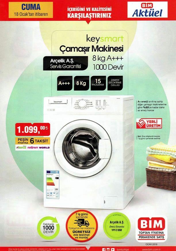 BİM 18 Ocak 2019 Güncel Kampanyası - Keysmart Çamaşır Makinesi
