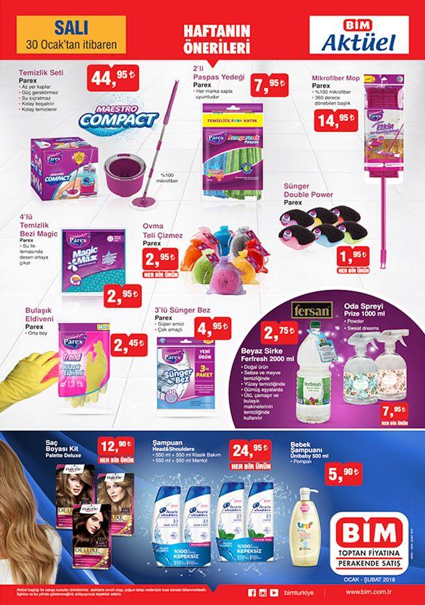 BİM 30 Ocak 2018 Aktüel Ürünler Katalogu - Temizlik Malzemeleri