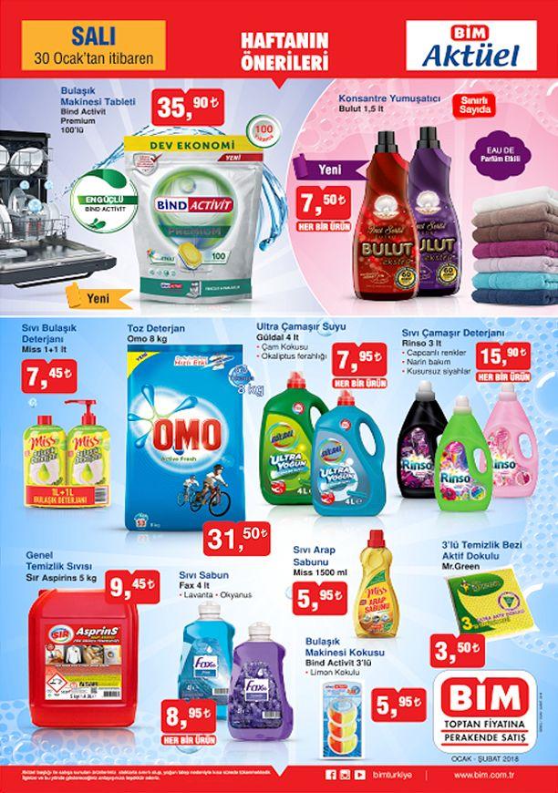 BİM 30 Ocak 2018 Aktüel Ürünler Katalogu - Temizlik Ürünleri
