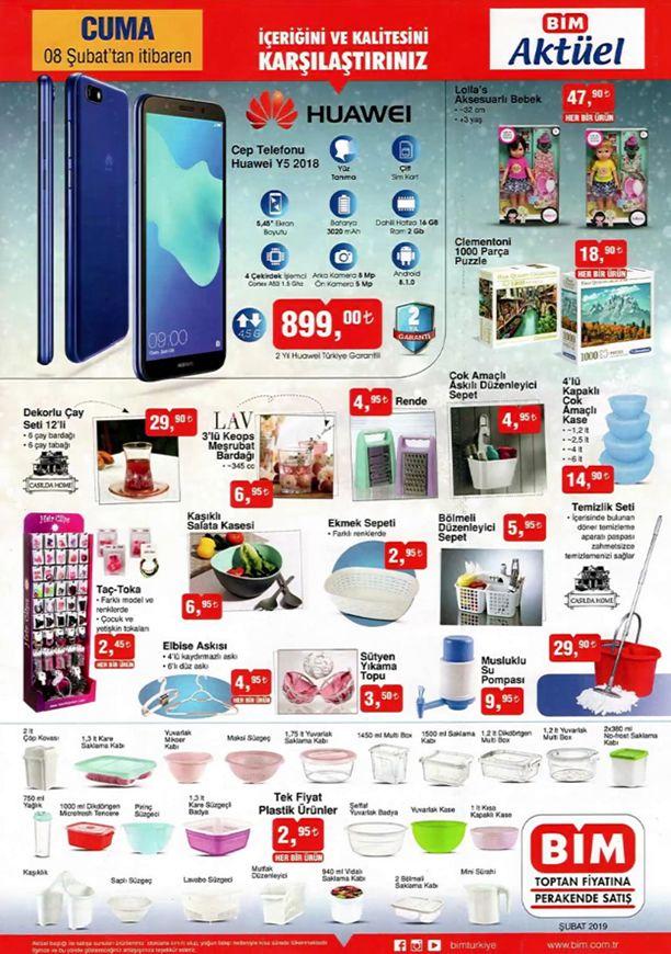 BİM 8 Şubat 2019 Aktüel Kataloğu - Huawei Y5 2018 Cep Telefonu
