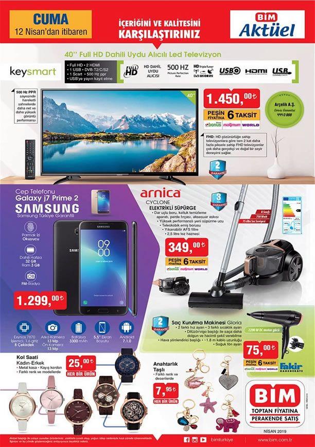 BİM Aktüel 12 Nisan 2019 Kataloğu - Samsung Galaxy J7 Prime 2