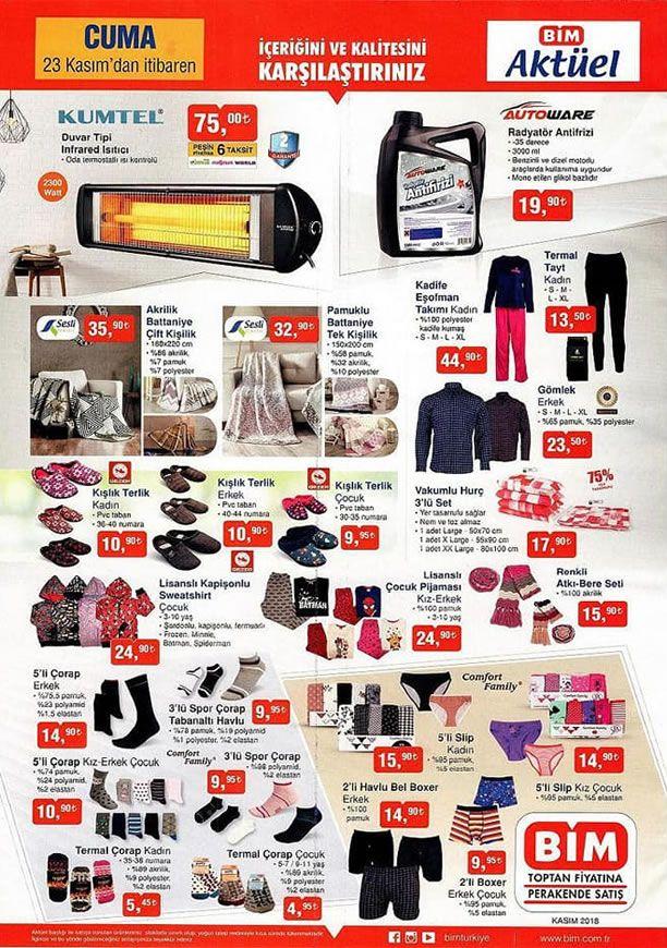 BİM Aktüel Ürünler 23 Kasım 2018 Kataloğu - Kumtel İnfrared Isıtıcı