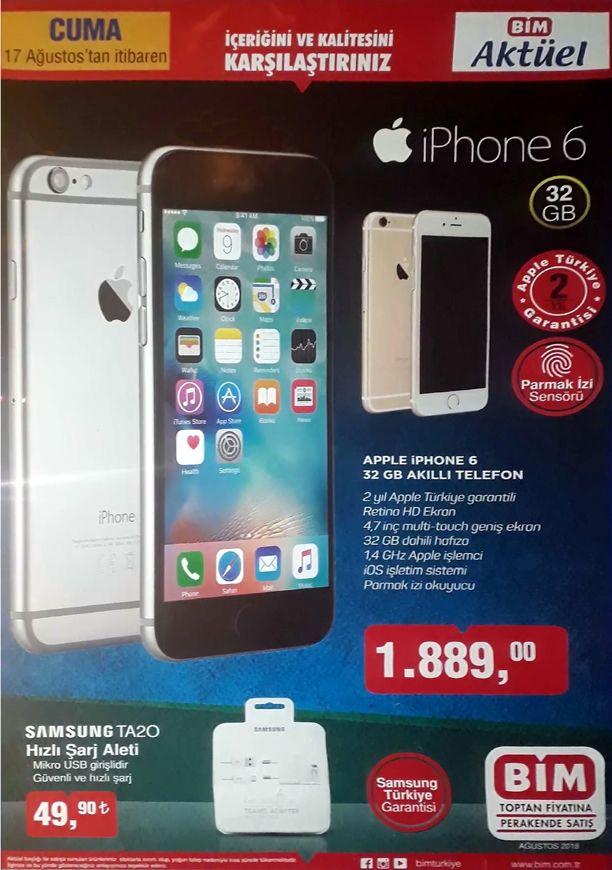 BİM iPhone 6 32 GB Akıllı Telefon - BİM 17 Ağustos 2018 Kataloğu