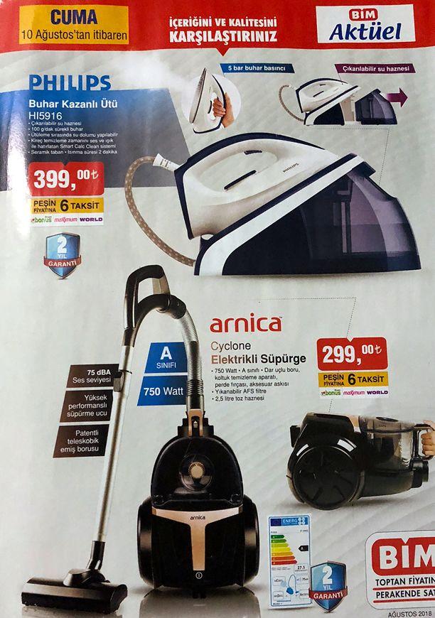 BİM Market 10 - 16 Ağustos 2018 Katalogu - Philips Buhar Kazanlı Ütü