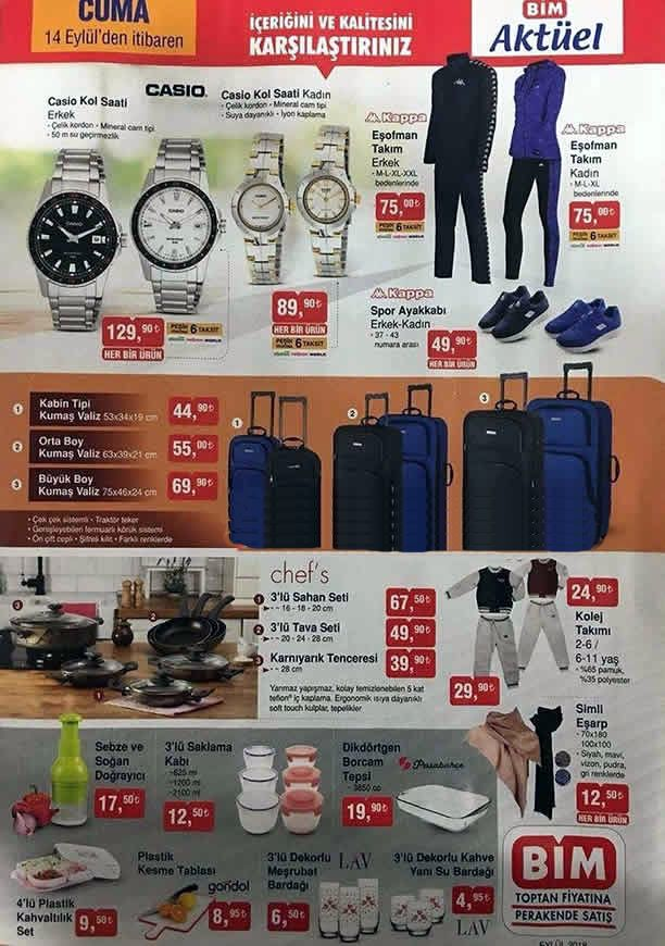 BİM Market 14.09.2018 Cuma Kataloğu - Casio Kol Saati