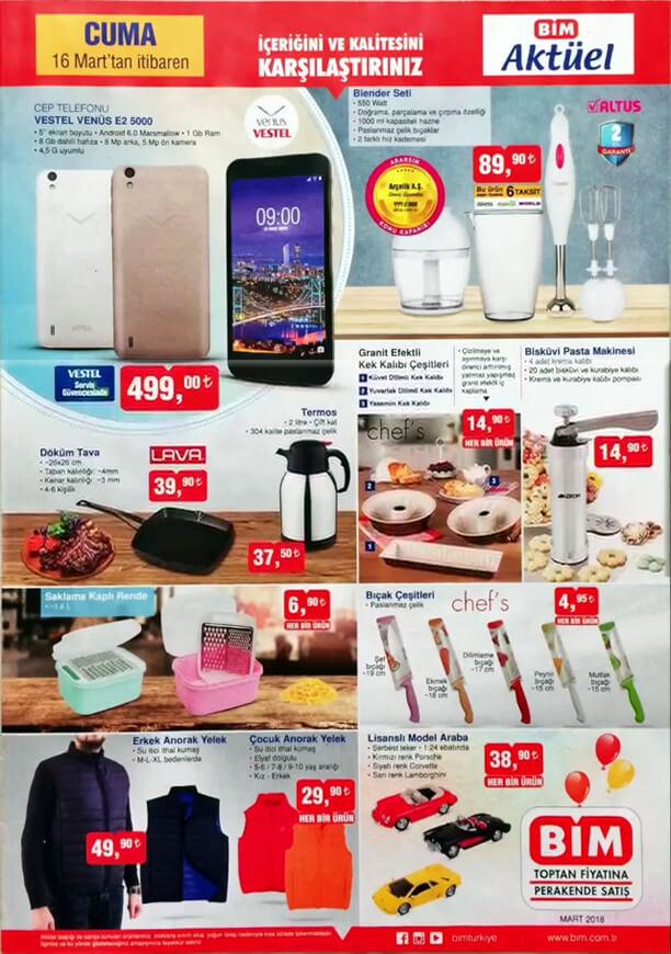 BİM Market 16 Mart 2018 Katalogu - Altus Blender Seti