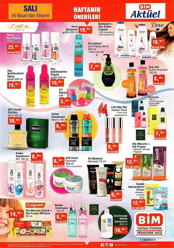 Bim Market 16 Nisan 2019 Haftanın önerileri Brut Erkek Parfüm