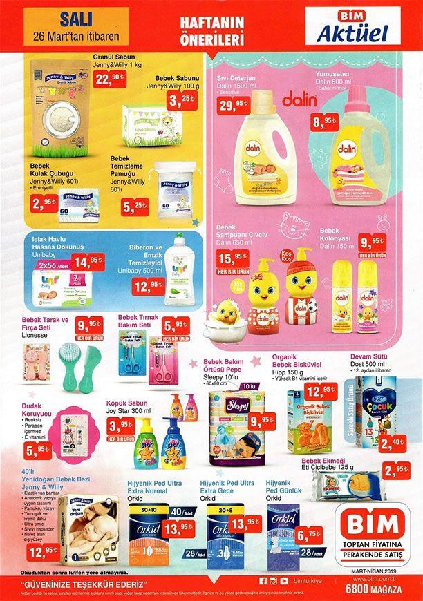 BİM Market 26 Mart 2019 Salı Fırsatları - Bebek Ürünleri