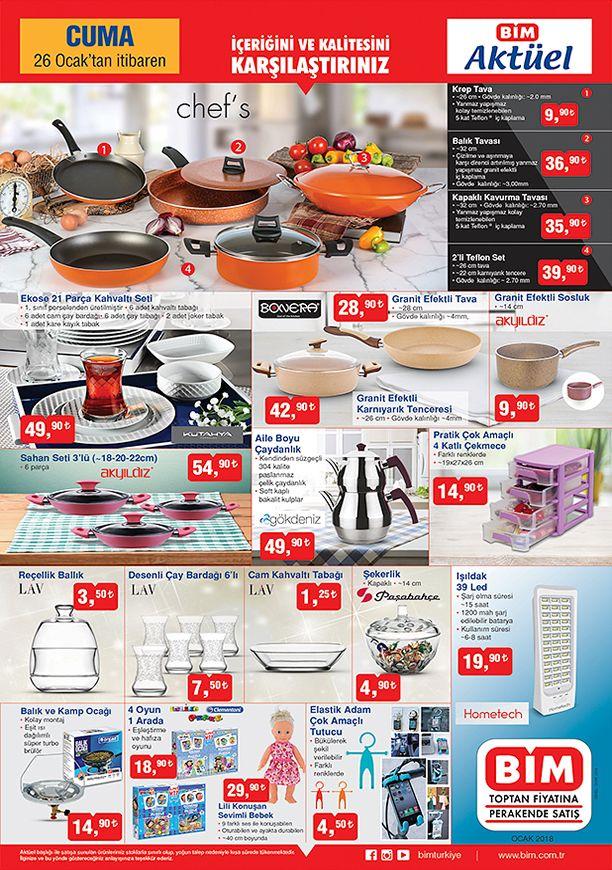 BİM Market 26 Ocak 2018 Aktüel Katalogu - Mutfak Ürünleri