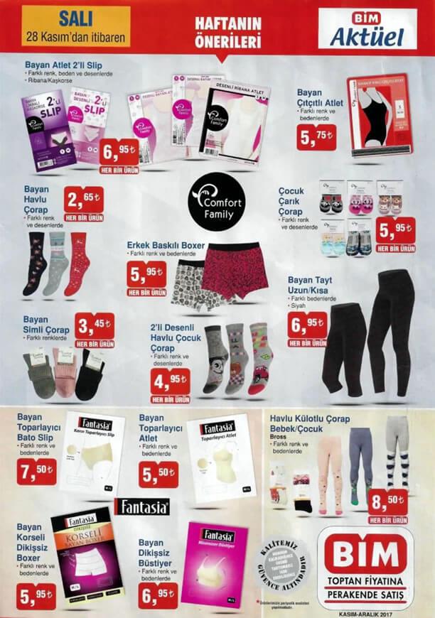 BİM Market 28 Kasım 2017 Salı - İç Giyim