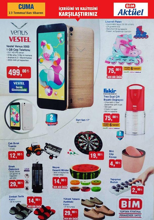 BİM Market Cep Telefonu, Paten, Fakir Doğrayıcı - 13 Temmuz 2018