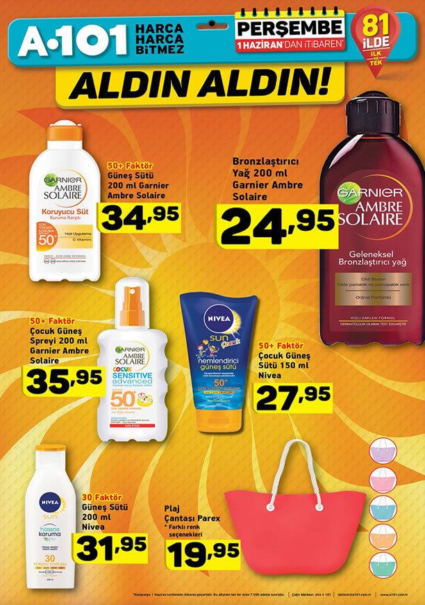 A101 1 Haziran 2017 Fırsat Ürünleri Kataloğu