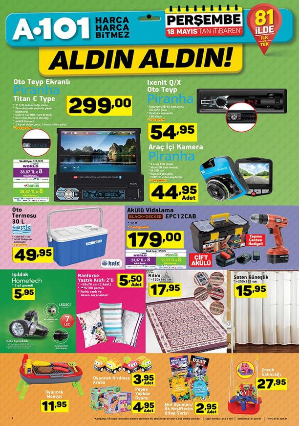 A101 18 Mayıs 2017 Katalogu - Çocuk Salıncağı