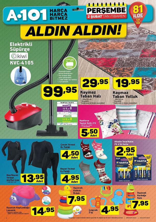 A101 2 - 9 Şubat 2017 Aktüel Ürünler Katalogu