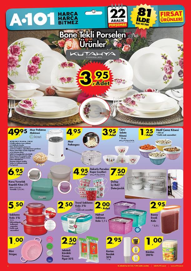 A101 22 Aralık 2016 Katalogu - Kütahya Porselen