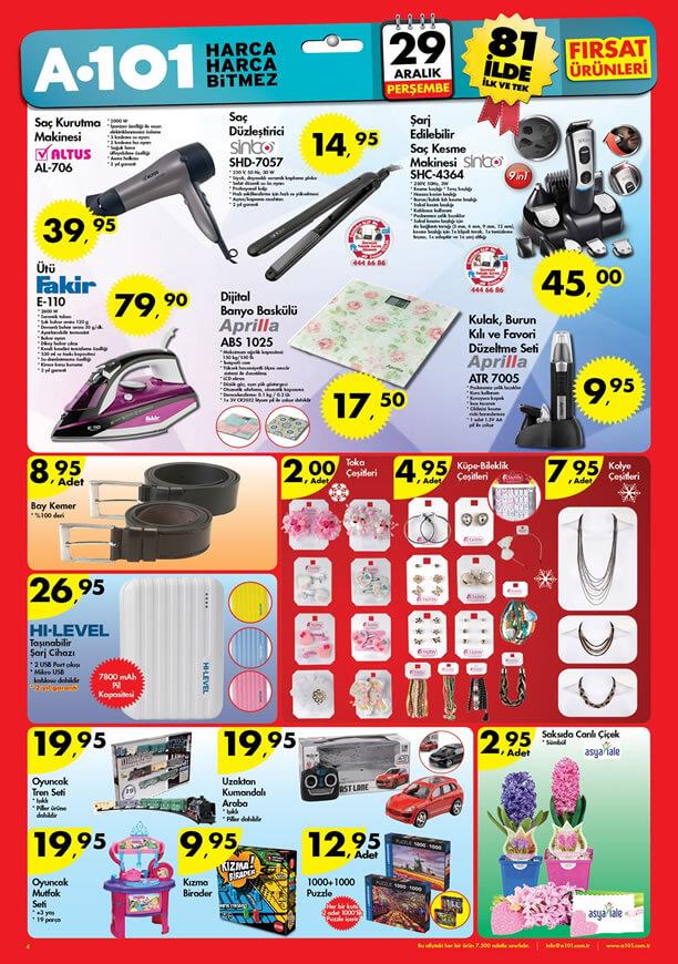 A101 29 Aralık 2016 Katalogu - Altus Saç Kurutma Makinesi