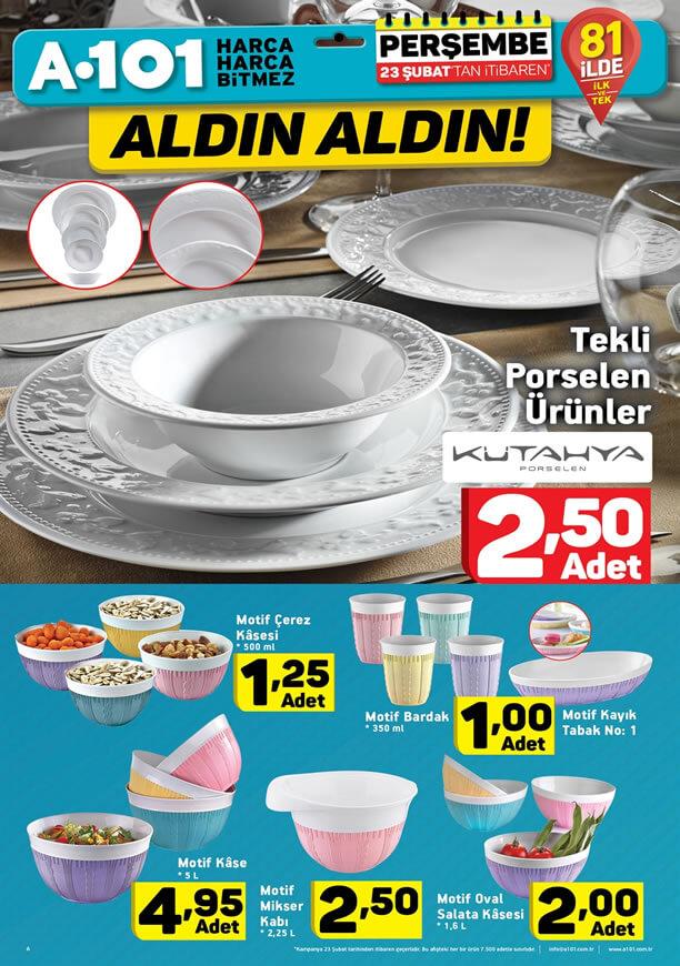 A101 Fırsat Ürünleri 23 Şubat 2017 Katalogu - Kütahya Porselen