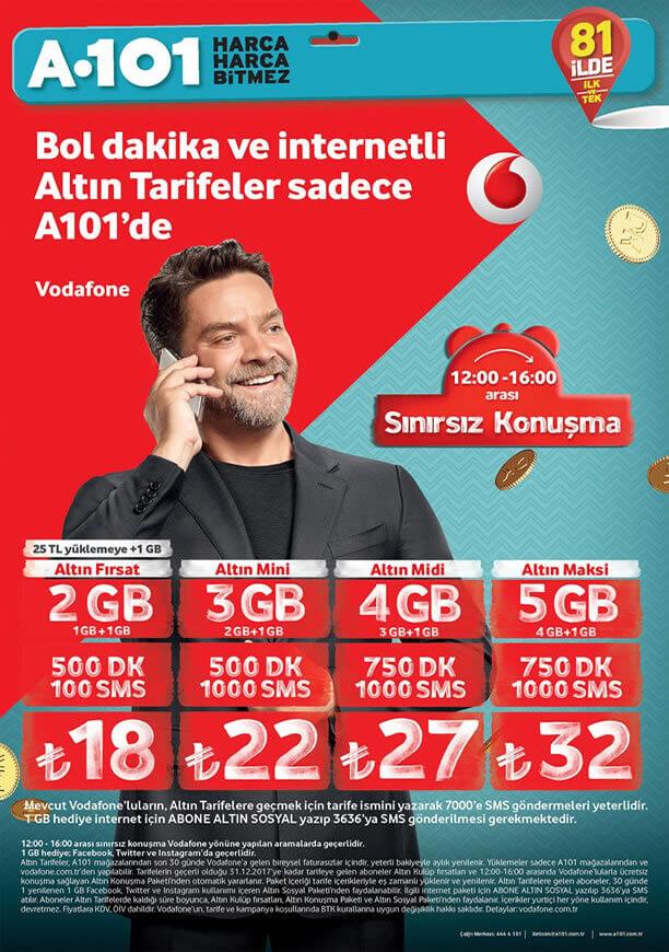 A101 Nisan 2017 - Vodafone Altın Tarife