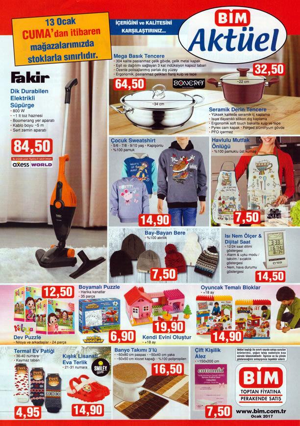 BİM 13 Ocak 2017 Katalogu - Fakir Dik Durabilen Elektrikli Süpürge