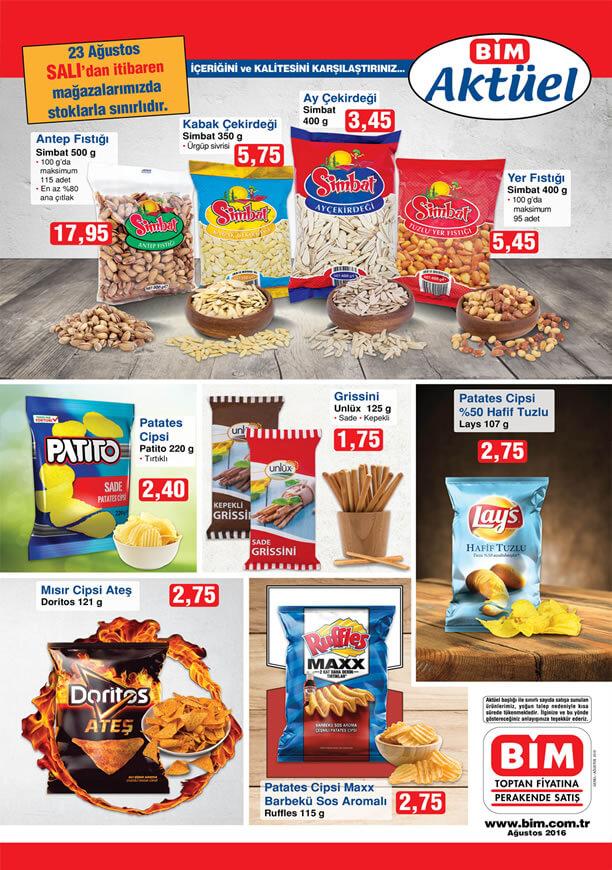 BİM 23 Ağustos 2016 Aktüel Ürünler Katalogu - Çerez ve Cips