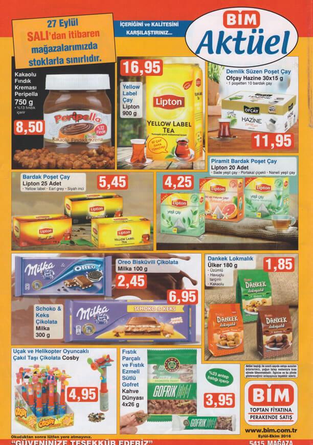 BİM 27 Eylül 2016 Aktüel Ürünler Katalogu - Lipton Yellow Label Çay