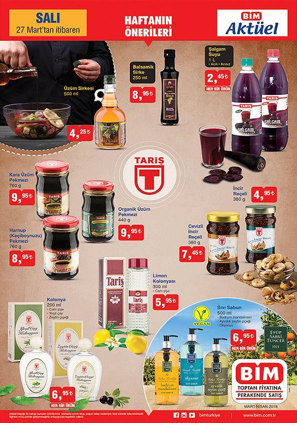 BİM 27 Mart 2018 Fırsat Ürünleri Kataloğu - Tariş