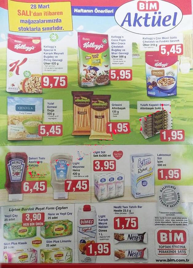 BİM 28 Mart 2017 Aktüel Ürünler Katalogu