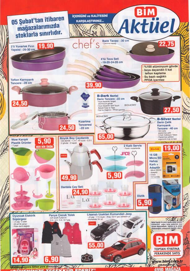 BİM Aktüel 5 Şubat 2016 Cuma Katalogu - Chef's Tencere Tava
