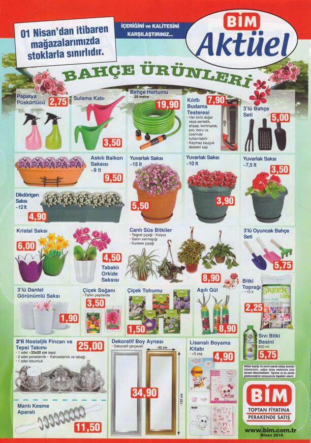 BİM Aktüel Ürünler 1 Nisan 2016 Katalogu - Bahçe Ürünleri