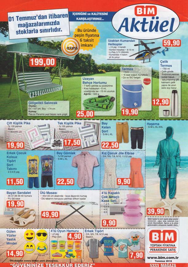 BİM Aktüel Ürünler 1 Temmuz 2016 Katalogu - Gölgelikli Salıncak