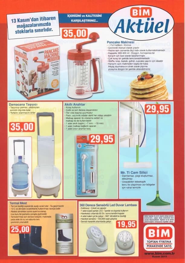BİM Aktüel Ürünler 13 Kasım 2015 Broşürü - Pancake Makinesi
