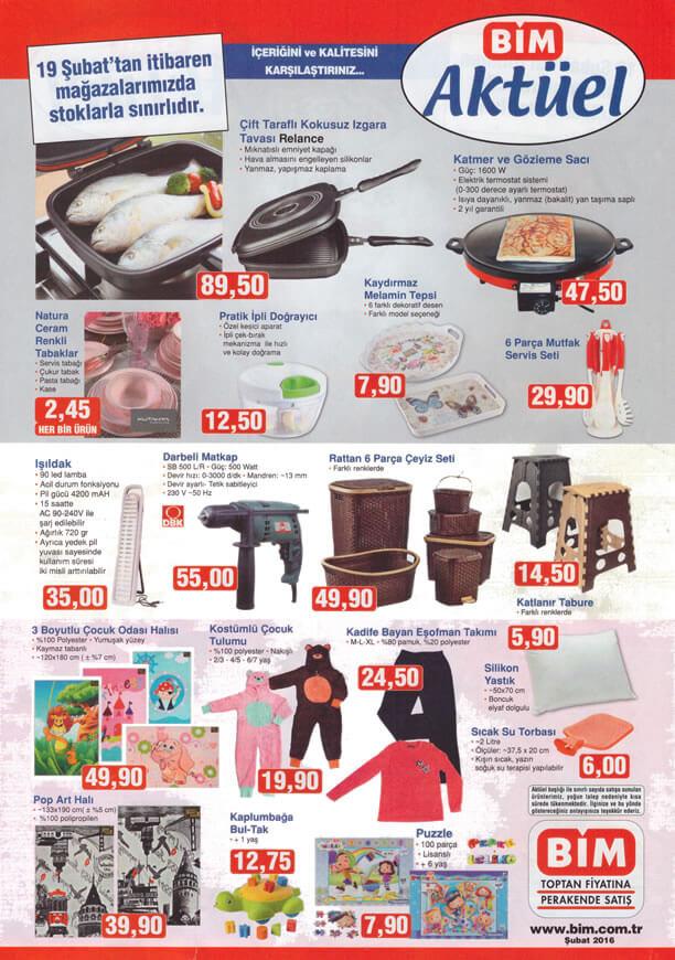 BİM Aktüel Ürünler 19 Şubat 2016 Katalogu - Relance Izgara Tavası