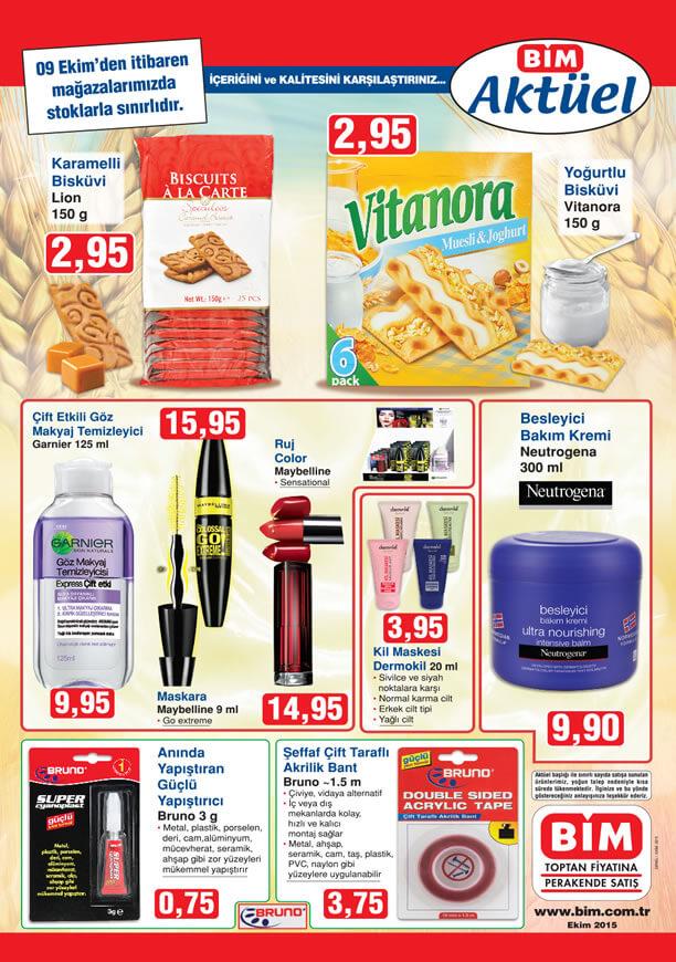 BİM Aktüel Ürünler 9 Ekim 2015 Katalogu - Neutrogena