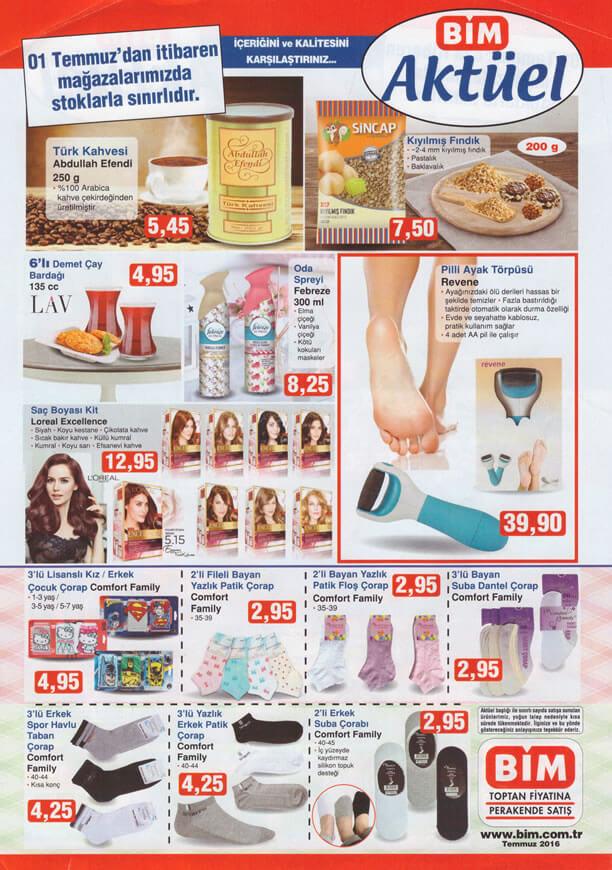 BİM Fırsat Ürünleri 1 Temmuz 2016 Katalogu - Revene Ayak Törpüsü