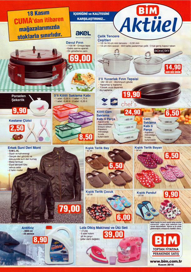BİM Fırsat Ürünleri 18 Kasım 2016 Katalogu - Erkek Suni Deri Mont