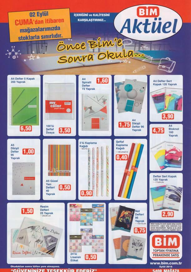 a481818f810ea BİM Fırsat Ürünleri 2 Eylül 2016 Katalogu - Okul Eşyaları - Aktüel ...
