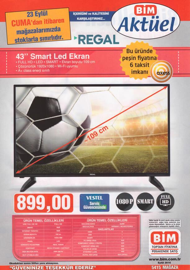 BİM Fırsat Ürünleri 23 Eylül 2016 Katalogu - REGAL Smart Led Ekran