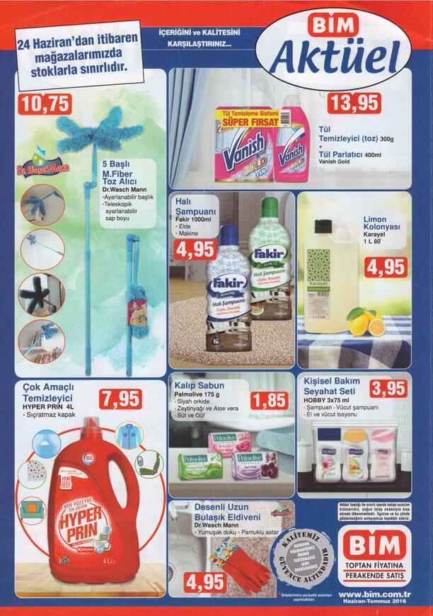 BİM Fırsat Ürünleri 24 Haziran 2016 Katalogu - Temizlik Ürünleri
