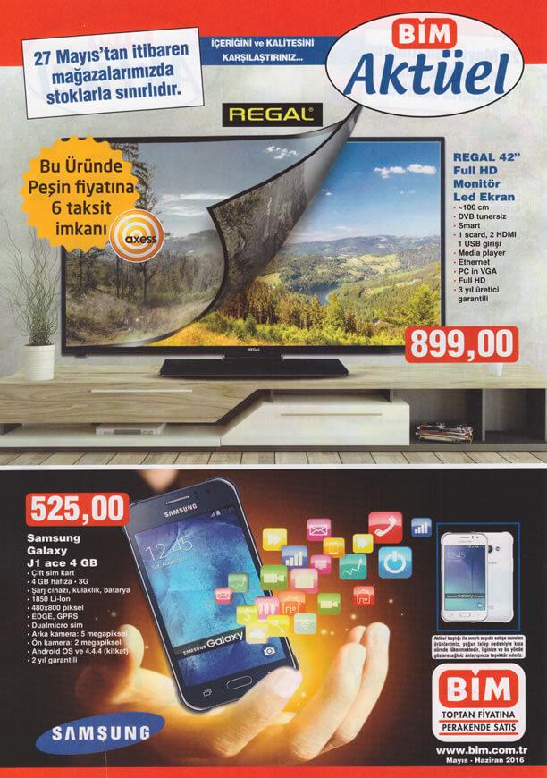 BİM Fırsat Ürünleri 27 Mayıs 2016 Katalogu - Samsung Galaxy J1 Ace