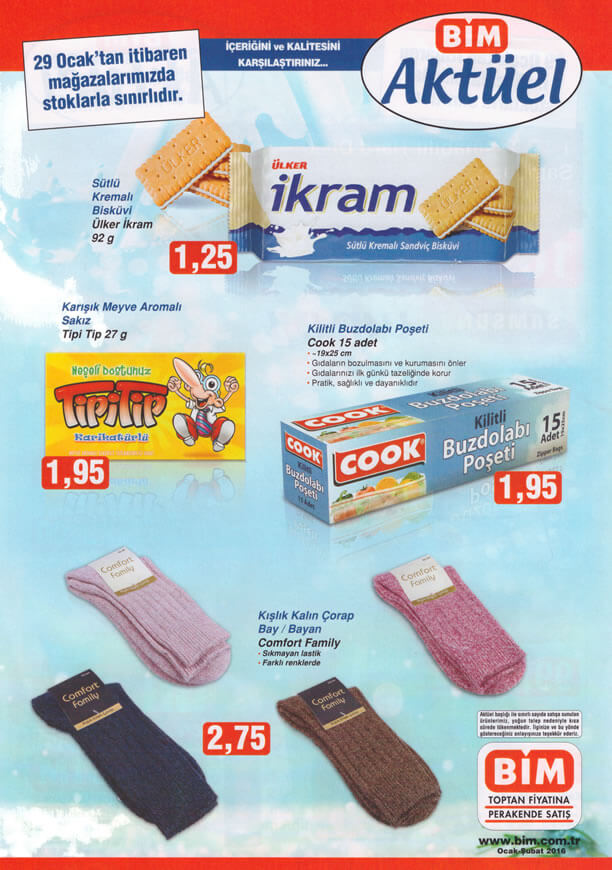 BİM Fırsat Ürünleri 29 Ocak 2016 Katalogu - Tipi Tip Sakız