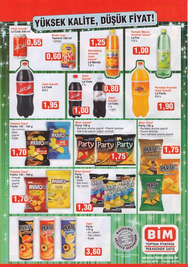 BİM Fırsatları 1 Ocak 2016 Insert - Le Cola