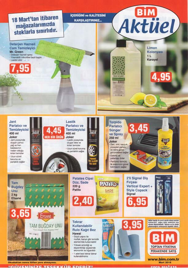 BİM Market 18.03.2016 Fırsat Ürünleri Katalogu - Mr.Green Cam Temizleyici