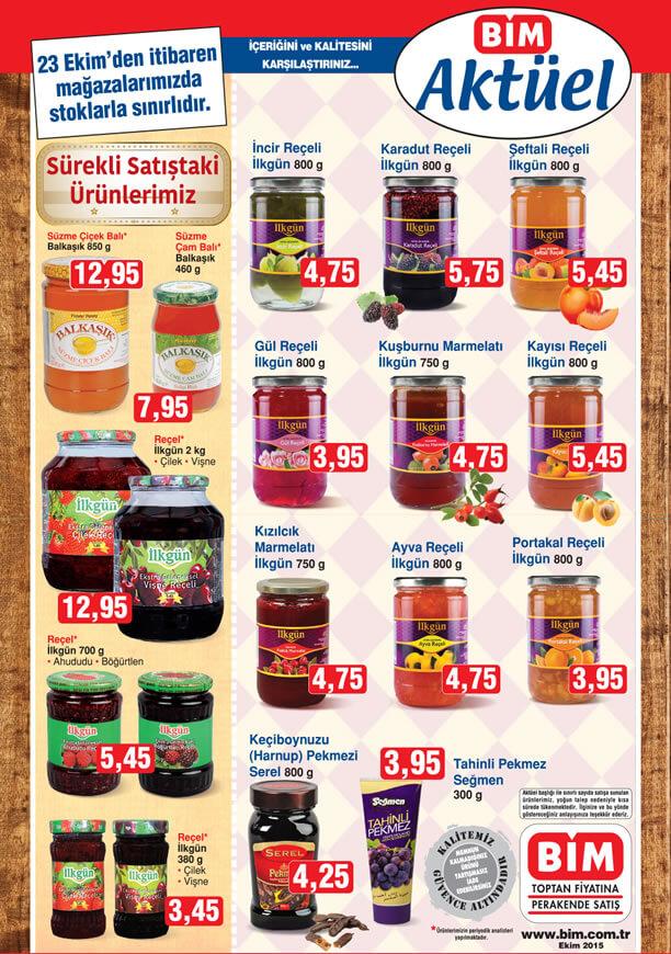 BİM Market 23 Ekim 2015 İndirimleri - Reçel Çeşitleri