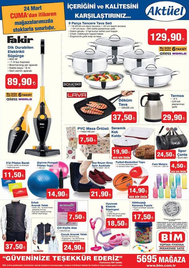 BİM Market 24 Mart 2017 Katalogu - Fakir Dik Elektrikli Süpürge